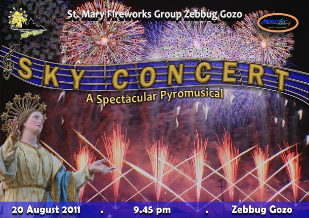 Spectacular 'Sky' Concert of fireworks to by held in Zebbug