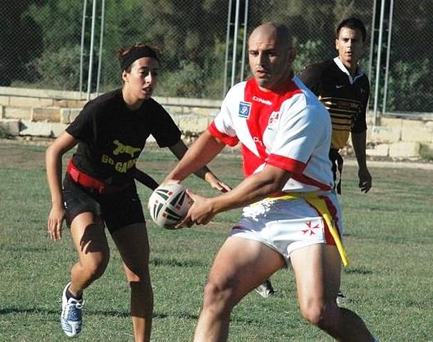 Gozo team in the Malta International Tag Rugby Festival