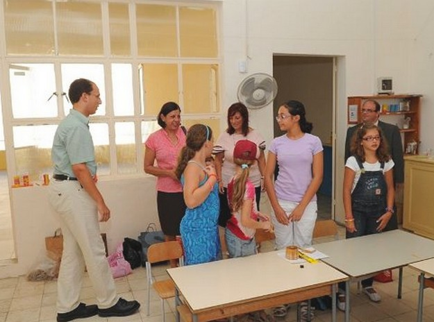 Minister Dolores Cristina pays a visit to Qala Primary School