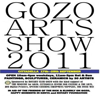 Gozo's 5th Annual Arts Show opens this Saturday in Victoria
