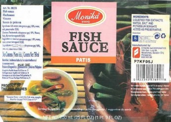 Health warning issued not to consume Monika Fish Sauce