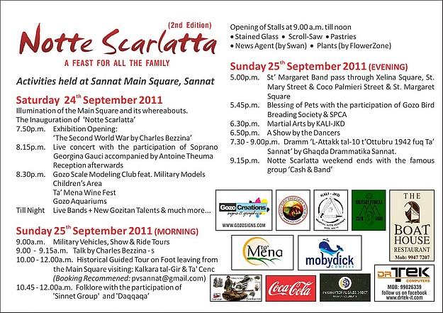 Notte Scarlatta taking place at Sannat this weekend