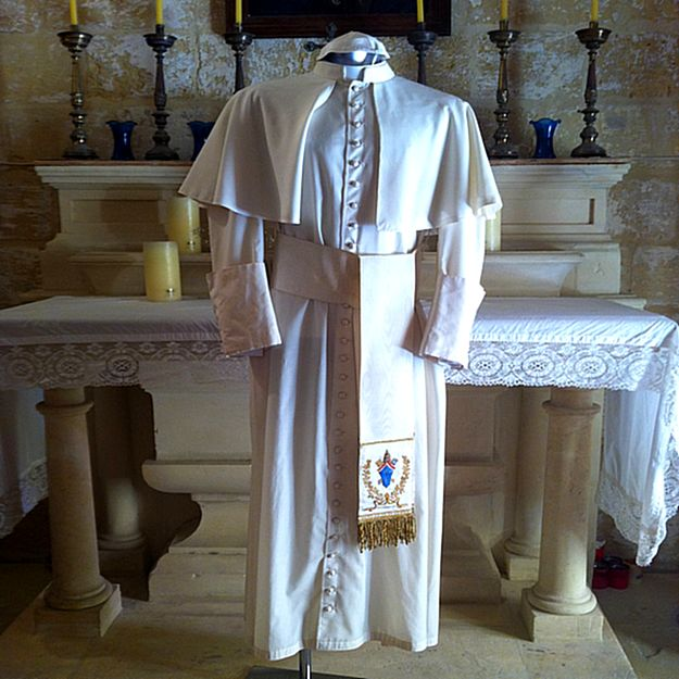 Pope John Paul II vestment display at the Citadella Centre