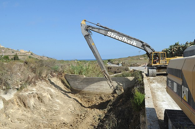 Clean up continues on Gozo's valleys & water catchments