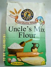 Helath warning on possible insect infestation of Uncle's flour