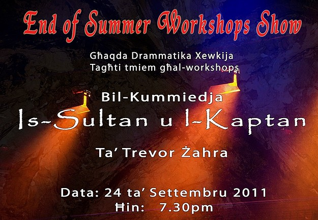 Ghaqda Drammatika's End of Summer Workshops Show