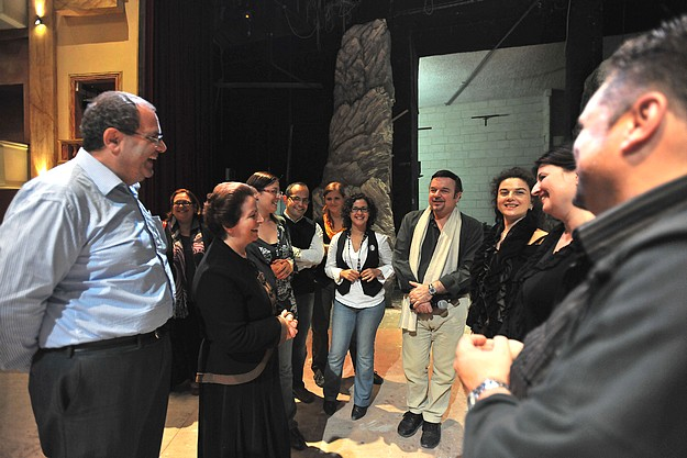 Final preparations for 'Norma' at the upgraded Teatru Astra