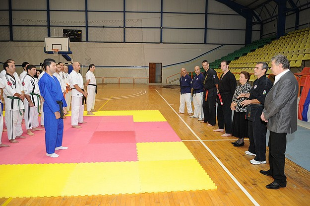 Karate seminar held yesterday featuring Master Borut Kinci