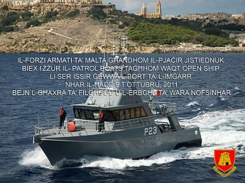 Armed Forces of Malta 'Open Ship Day' this Sunday in Gozo