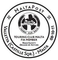 Special Hand Postmark – Touring Club Malta FIA Member