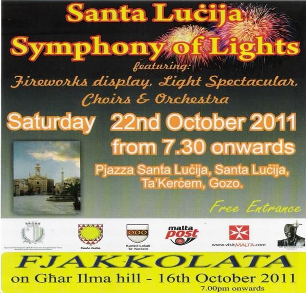 Santa Lucija's 'Symphony of Lights' taking place tomorrow