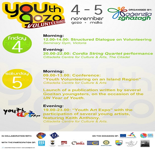 Youth Gozo Volunteering information and entertainment