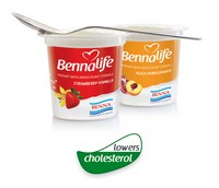Bennalife yogurt with plant sterols helps to lower cholesterol