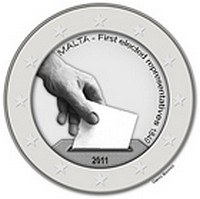 €2 Commemorative Coin on Malta's Constitutional History