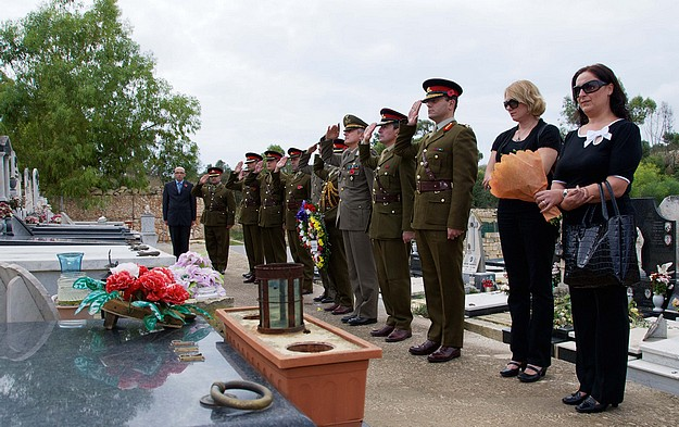 Armed Forces of Malta Remembrance Day commemoration