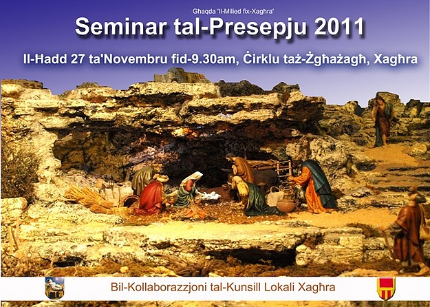Christmas Crib Seminar being held this Sunday in Xaghra