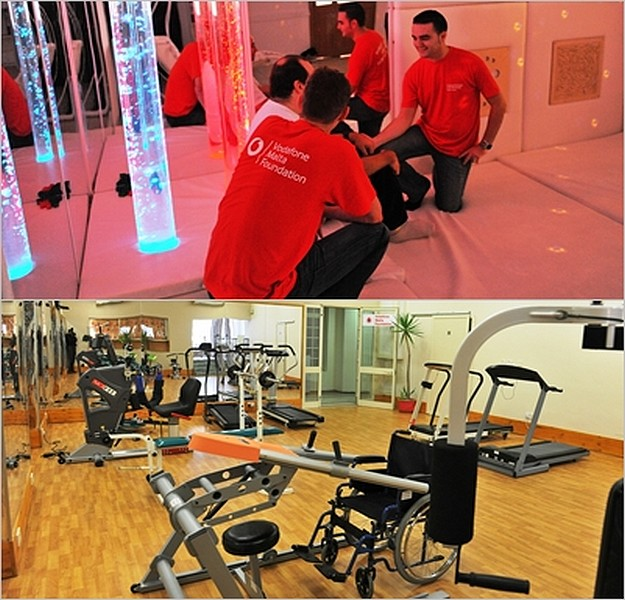 Vodafone employees open gym at Arka Respite Centre