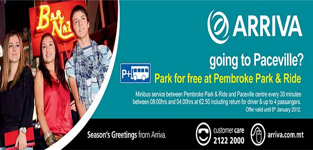 Arriva offer Park for Free at Pembroke Park and Ride