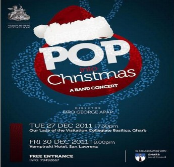 Gharb Ghaqda Muzikali Vizitazzjoni Christmas concerts 2011