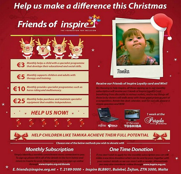 Help a child with the Inspire charity Christmas campaign