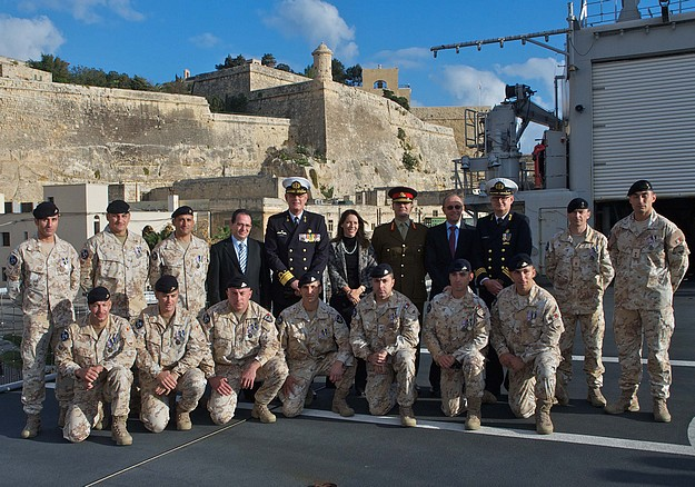 Maltese soldiers awarded commemorative medal