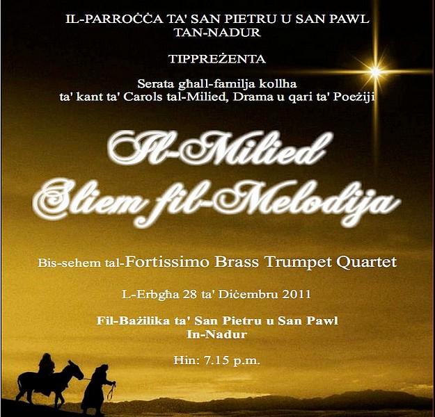 Christmas Carols Concert 'Il-Milied Sliem fil-Melodija' in Nadur
