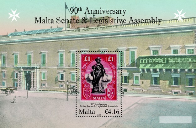 Commemorative Stamp for anniversary of the Malta Senate