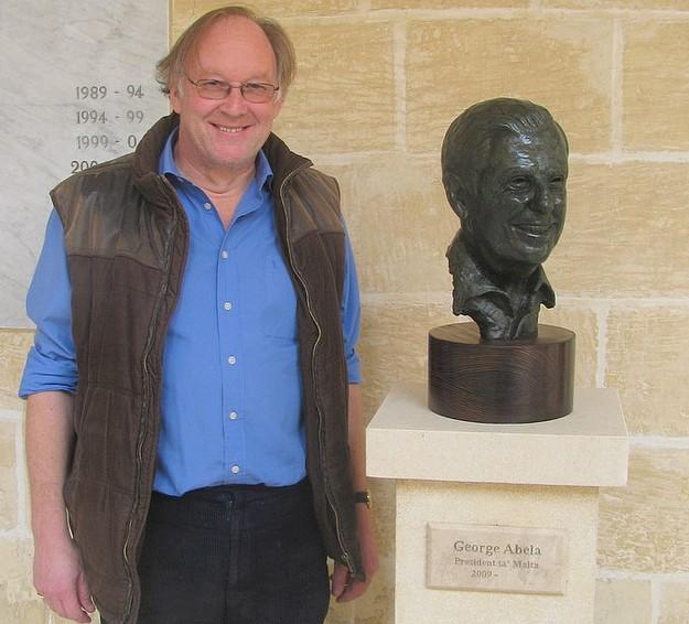 New bronze portrait bust of the President of Malta