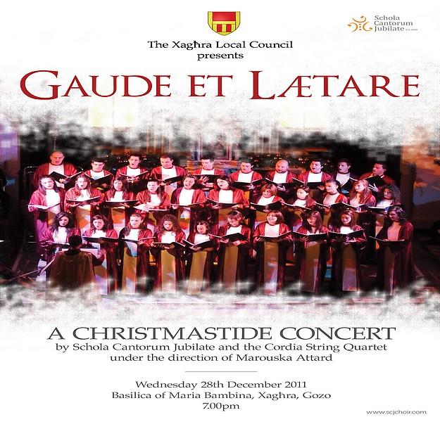 A Christmastide Concert at Xaghra - 'Gaude et Lætere'