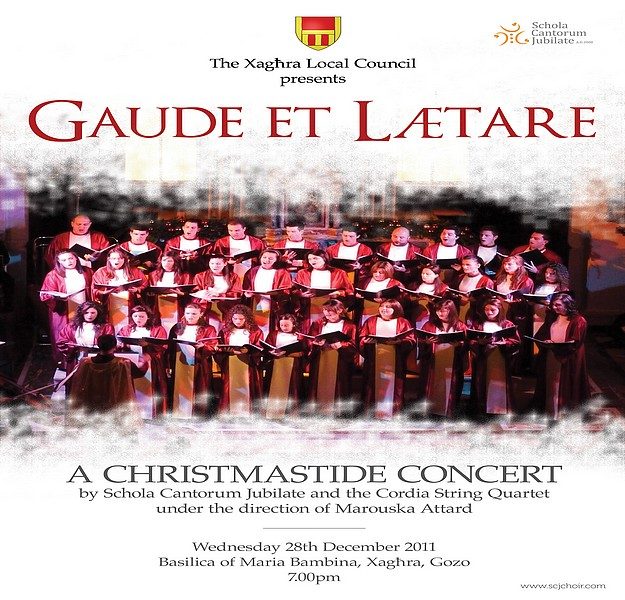 'Gaude et Lætere' - A festive concert tomorrow in Xaghra