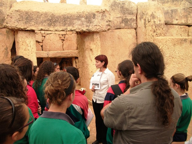EU project 'Youths meet the Cultural Heritage' at Hagar Qim