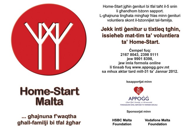 Home-Start Malta is looking for new volunteers for team
