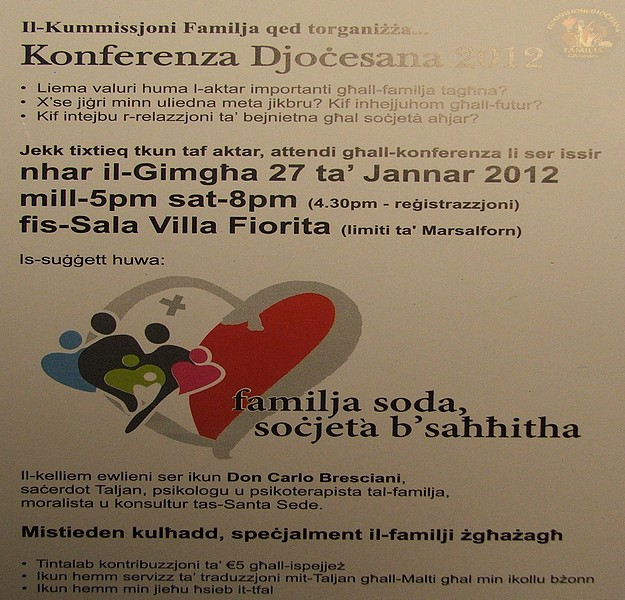 Family Commission of the Gozo Diocese annual conference