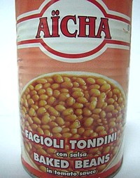 Aicha Baked Beans in Tomato Sauce not to be consumed