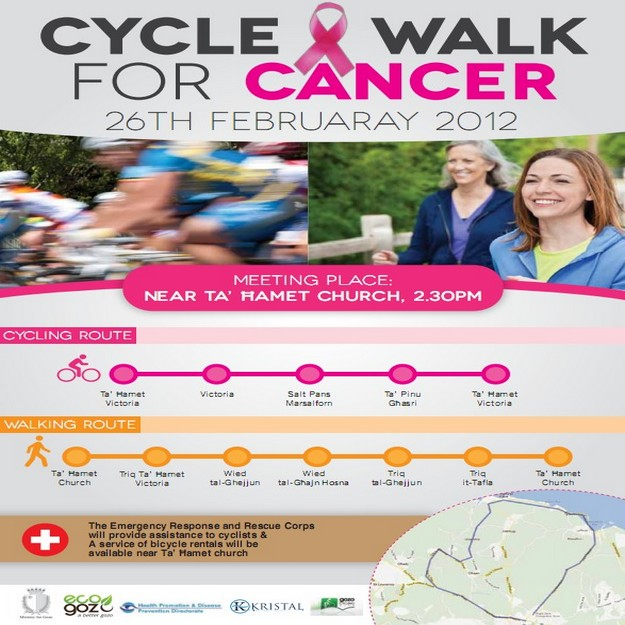 Gozo Cycle and Walk for Cancer takes place later this month