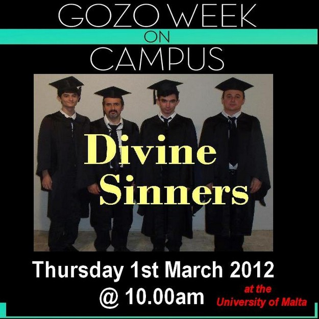 Gozitan rock band Divine Sinners at 'Gozo Week on Campus'