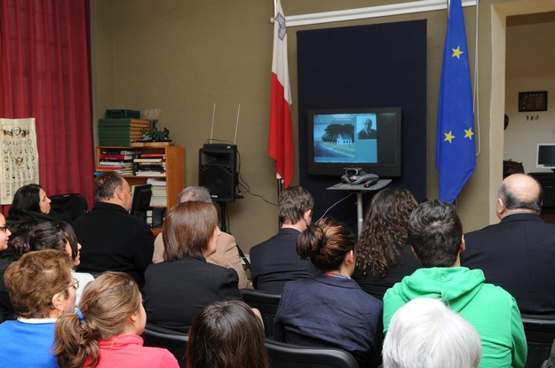 First direct video conference held at the Gozo Centre
