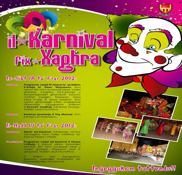 Xaghra 2012 Carnival activities get underway next week