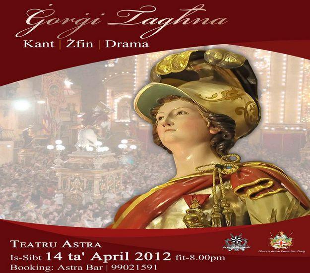 Ghaqda Armar Festa San Gorg to stage 'Gorgi Taghna'