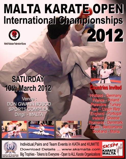 Malta Karate Open 2012 taking place this coming Saturday