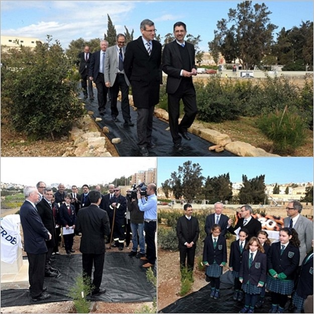 Official opening of Mater Dei Mediterranean woodland