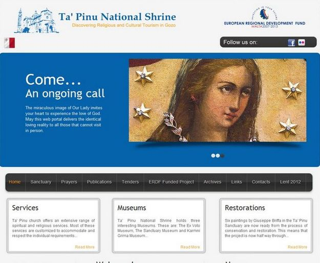 Ta' Pinu National Shrine launches new upgraded web portal