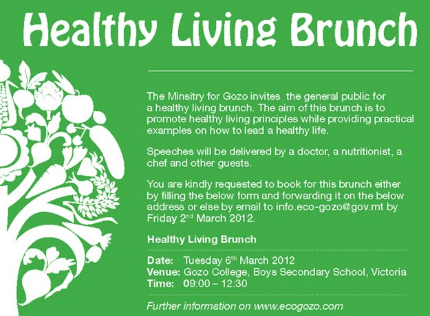 Brunch being held to promote healthy living and lifestyle