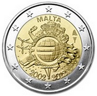 Issue of €2 Coin Commemorating 'Ten Years of the Euro'