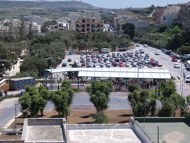 New canopy completed at Gozo's Victoria bus terminus