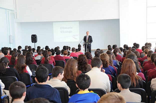 Climate Change lecture for secondary school pupils in Gozo