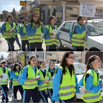 Gozo College Girls Secondary School 'World Water Day' walk