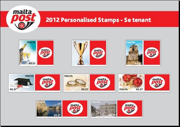 MaltaPost 'Occasions 2012' in single se-tenant stamp format