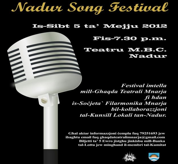 Annual Nadur Song Festival to be held at the MBC Theatre
