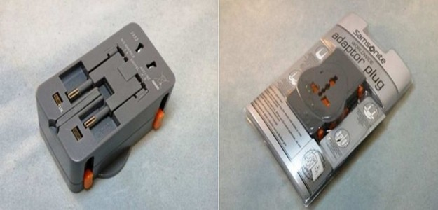 Safety issues related to the 'Samsonite' electrical adaptor